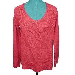 Lucky Brand Rayne Pullover Knit Sweater Red Size S